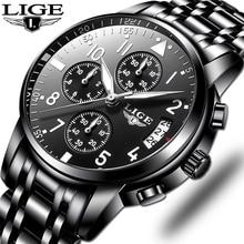 Мужские часы s, водонепроницаемые кварцевые деловые часы LIGE, топ бренд, роскошные мужские повседневные спортивные часы, мужские Relogio Masculino relojes hombre