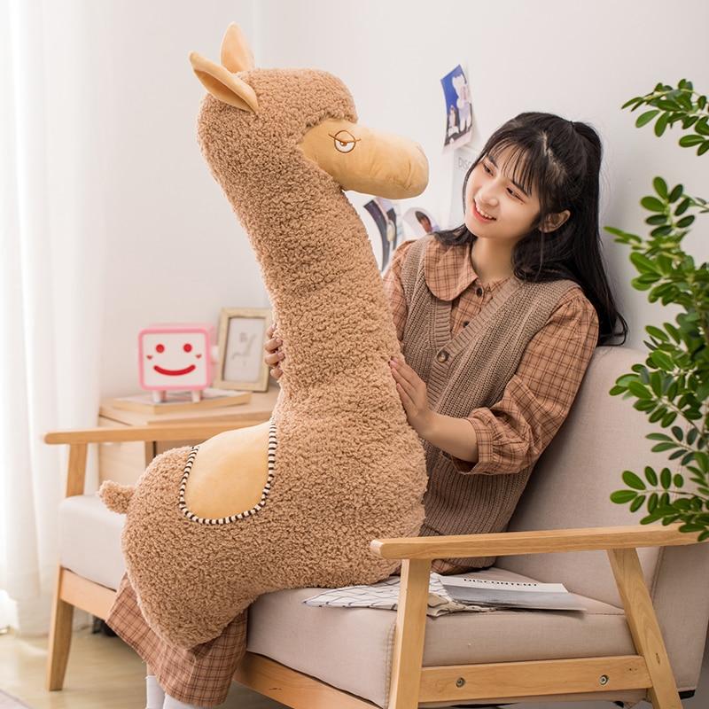 Alpaca Plush Soft Llama Giant Appa Stuffed Animal Plush Toys Cartoon Japanese Sheep Kawaii Home Decor Girl Kids Birthday Gifts Just6F