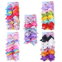 Rainbow Cartoon print flower baby hair clips in Baby Girls Hair Accessories  &pins For Girls print flower clip bow pin girls flower print hoodie