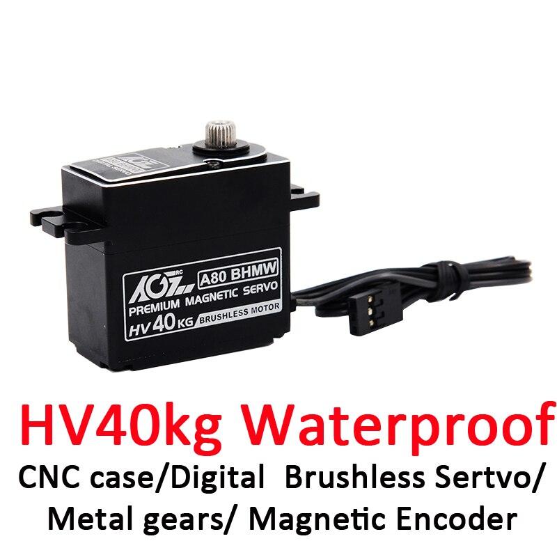 AGF A80BHMW 40kg Waterproof High Torque Brushless Servo Digital Servo For Remote Car And Boat