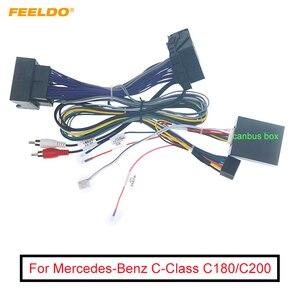 Image 1 - Carro 6pin aftermarket android adaptador de cabo de alimentação estéreo com canbus para mercedes benz c classe c180/c200 (w204 facelift;11 14)