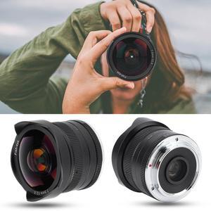 Image 3 - 7 ремесленников 7,5 мм f2.8 Объектив рыбий глаз с постоянным фокусным расстоянием f Lens180 APS C ручной фиксированный объектив с фиксированным фокусным расстоянием для Canon EOS M/Fuji FX/ M4/3