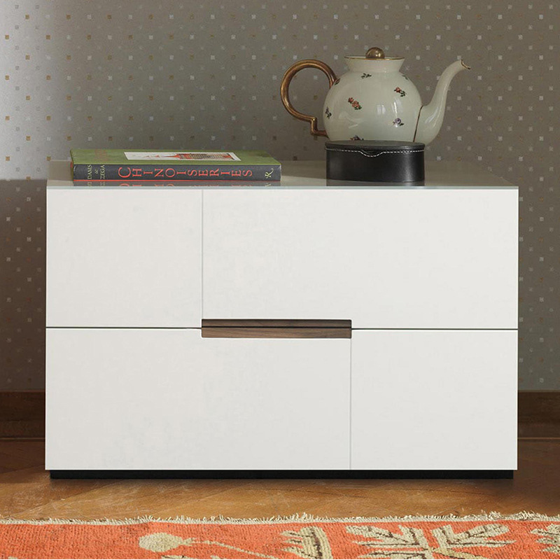 The Nordic Light Luxury Solid Wood Bedside Cabinets, Minimalist Bedrooms Are Small Apartments Mini-red Creative Custom Bedside
