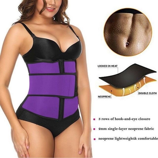 Waist Trainer Thermo Sweat Belt Waist Trainer Girdle Corset Women Tummy Body Shaper Shapewear Fat Burning Fitness Modeling Strap 3