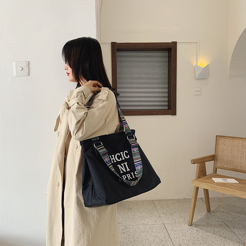 2019 Autumn New Style WOMEN'S Bag Simple Fashion Tote Bag Large-capacity Backpack Hand Casual Lettered Large Bag