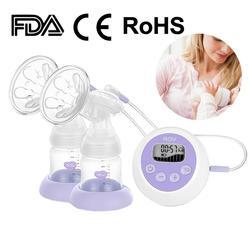 Neue Intelligenz Doppel Elektrische Brust Pumpen Ruhig Saug Leistungsstarke Automatische Milch Pumpe Baby Brust Fütterung Milch Extractor USB