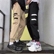 NiceMix Women Casual Sports Pants New Handsome Trend Hip Hop Wide Leg Loose Bf Style Thin Beam Feet High Waist Tooling Pan