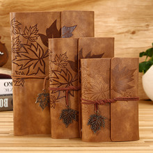 Travelers Vintage Notebook PU Leather Blank Kraft Diary Note Book Journal Sketchbook Stationery School Office Supplies A7/A6/A5