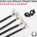 Sq 0,3 0,5 0,75 1 1,5 2 2,5 мм мягкий силиконовый резиновый экранированный кабель 2 3 4 6 ядер изолированный гибкий медный высокотемпературный провод