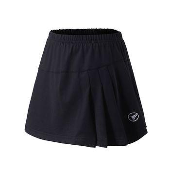 2019 w nowym stylu spódnica sportowa damska jednokolorowa spódnica do tenisa anty-ekspozycja podzielona spódnica krótka spódniczka studentka Shuttlecock tanie i dobre opinie Solid Color China YUYF AK100 Divided Skirt