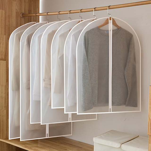 Hot Clothes Hanging Garment Dress Clothes Suit Coat Dust Cover Home Storage Bag Pouch Case Organizer Wardrobe Hanging Clothing 1