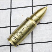 New Creative metal bullet lighter Inflatable Military Windproof high quality Man customization gift Cigarette