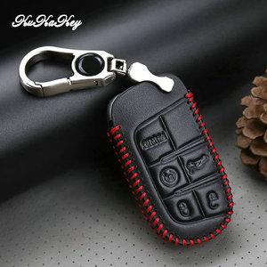 Image 5 - حافظة جلدية لمفتاح السيارة لسيارة جيب جراند شيروكي كومباس رانجلر رينيجيد هارد ستيل 2016 2017 كرايسلر 300C لشركة فيات