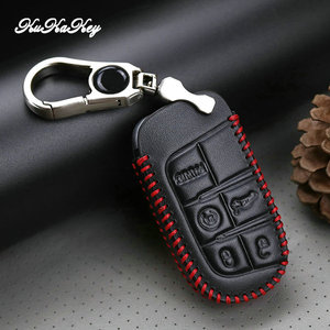 Image 5 - Leather Car Key Case Cover For Jeep Grand Cherokee Compass Wrangler Renegade Hard Steel 2016 2017 Chrysler 300C For Fiat