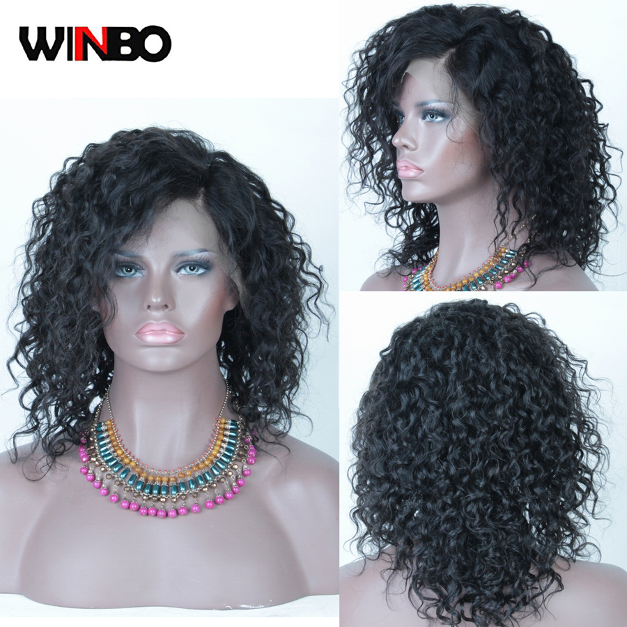 WINBO Loose Cury 13x6 Lace Frontal Wig For Black Women Pre-plucked 13x4 Brazilian Human Remy Hair Lace Front Wigs Natural Color