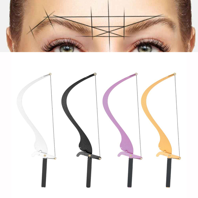 High Quality Microblading Line Marker Ruler with 10pcs Thread Lines Eyebrow Design Measuring Ruler Set Permanent Makeup Supplies