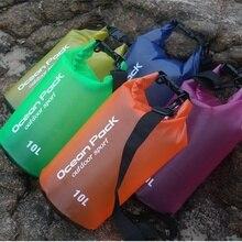 Высокое качество ПВХ Водонепроницаемый сухой мешок Открытый Спорт Плавание рафтинг Каякинг парусный спорт сумка для хранения Портативный прочный 2L/5L/10L