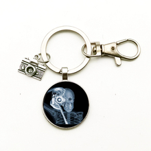 New Vintage Cute Camera Pendant Keychain Dome Glass Jewelry X-ray Film Keyring Nurse Doctor Gift Bag Charm Men Women Souvenir