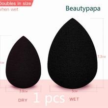 BeautyPaPa черный макияж аппликатор супер мягкий спонж для нанесения пудры блендер Гладкий контур основания спонж для Blender