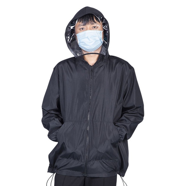 Anti Flu Washable Protective Suit Isolated Clothing Jacket Hat With Mask Waterproof Removable Epidemic Prev Beekeeping Clothes 1