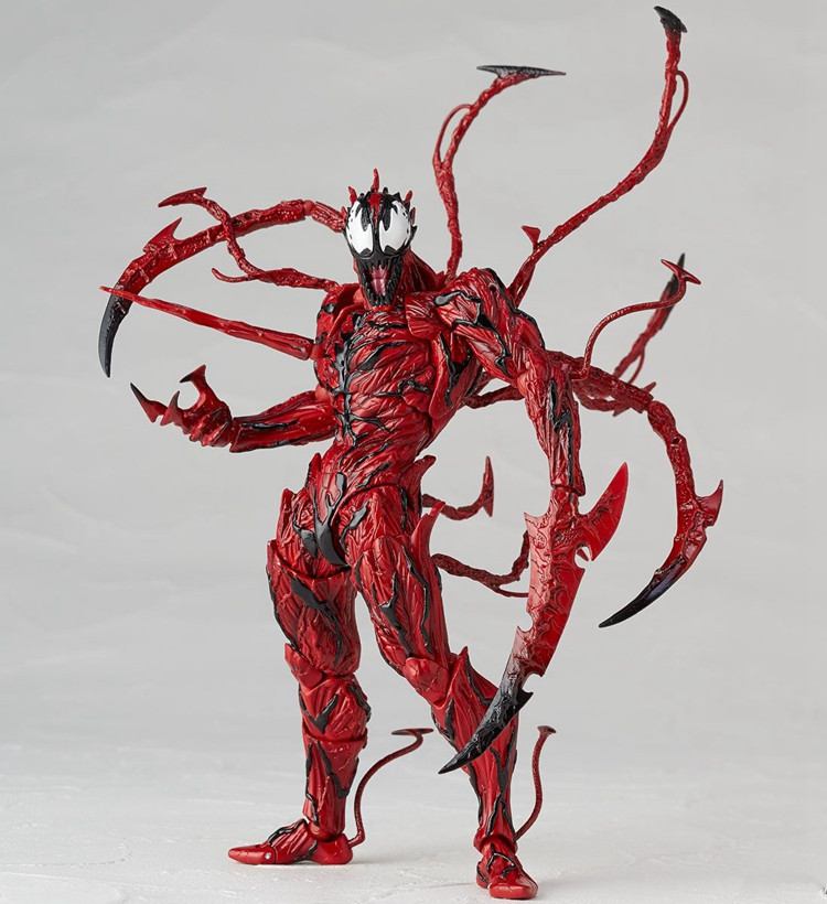 16cm Movie The Amazing Spider Man <font><b>BJD</b></font> Joints Movable Action Figures Red Venom Figure Toy Venom <font><b>Doll</b></font> Superhero Collectible Model image