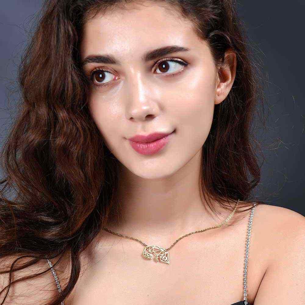 Unikalne kameleon naszyjnik LaVixMia włochy projekt 100% naszyjniki ze stali nierdzewnej dla kobiet Super moda biżuteria specjalny prezent
