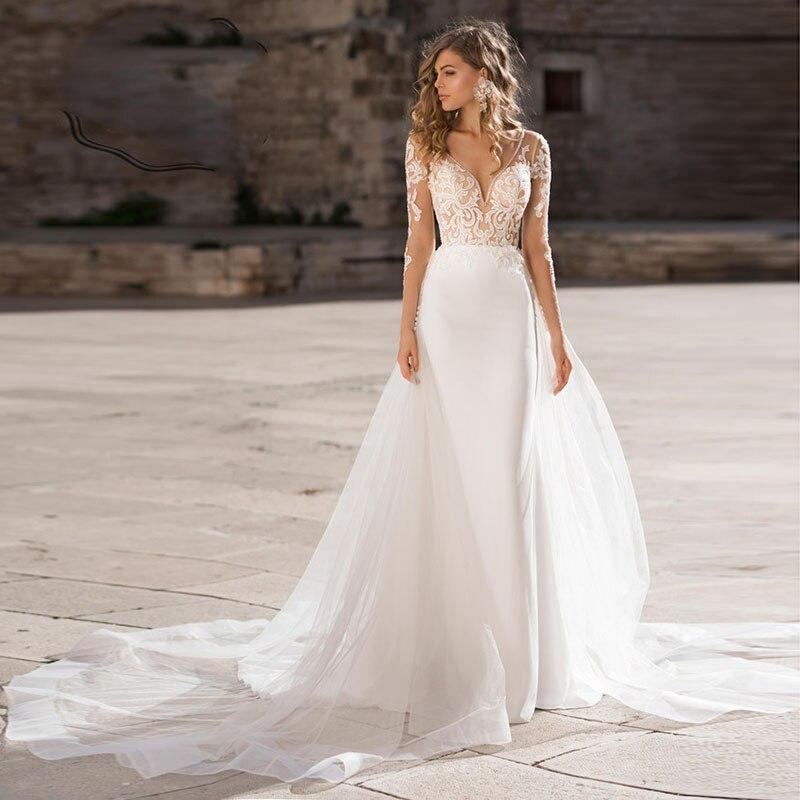 Свадебное платье в стиле бохо Verngo, элегантное кружевное свадебное платье с аппликацией, свадебное платье на заказ, новый дизайн, 2019