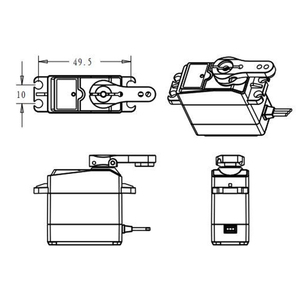 Image 5 - Waterproof RC Servo DS3218 Update and PRO High Speed Metal Gear Digital Servo Baja Servo 20KG/.09S for 1/8 1/10 Scale RC Cars