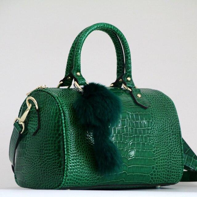 Lüks Boston çanta hakiki deri kadın çanta \ çanta leopar desen marka bayan yastık Tote dana büyük omuz Crossbody çanta