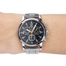 DUOBLA Men Watches Quartz Analog Wristwatch Steel Band