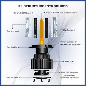 Image 5 - Ampoule pour phares de voiture, ers P9 LED H4 H7 LED, 100W Hi/Lo, faisceau H11 H8 H9 HB4 Auto phare LED H13 D2S D4S HID 13600LM