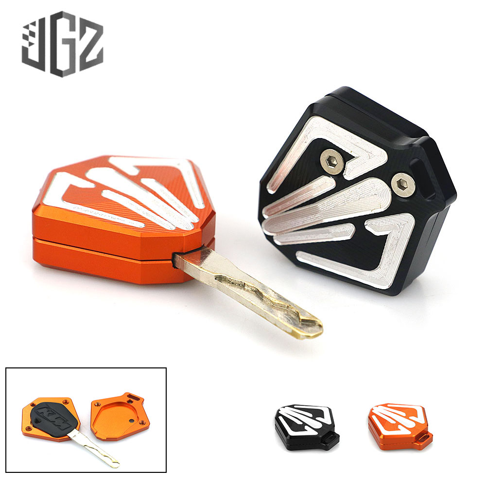 Motorcycle CNC Aluminum Key Case Shell Protection Decorate Universal for KTM DUKE 390 125 200 <font><b>250</b></font> <font><b>2013</b></font> - 2017 2018 Orange Black image
