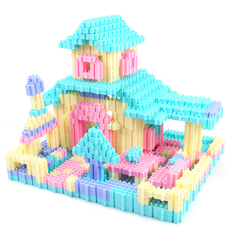 Image 5 - 450PCS Fun Puzzle Building Blocks City Castle House DIY Creative Bricks Block Model Figures Educational Toys For Children Gifts-in Stacking Blocks from Toys & Hobbies