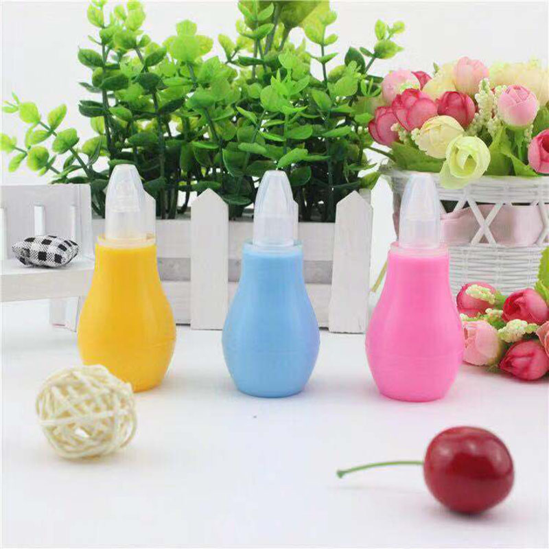 New Baby  Airpump Type Health Care  Manual Silicone Solid Nasal Aspirator Infant Nasal Suction Device For 0-2Years