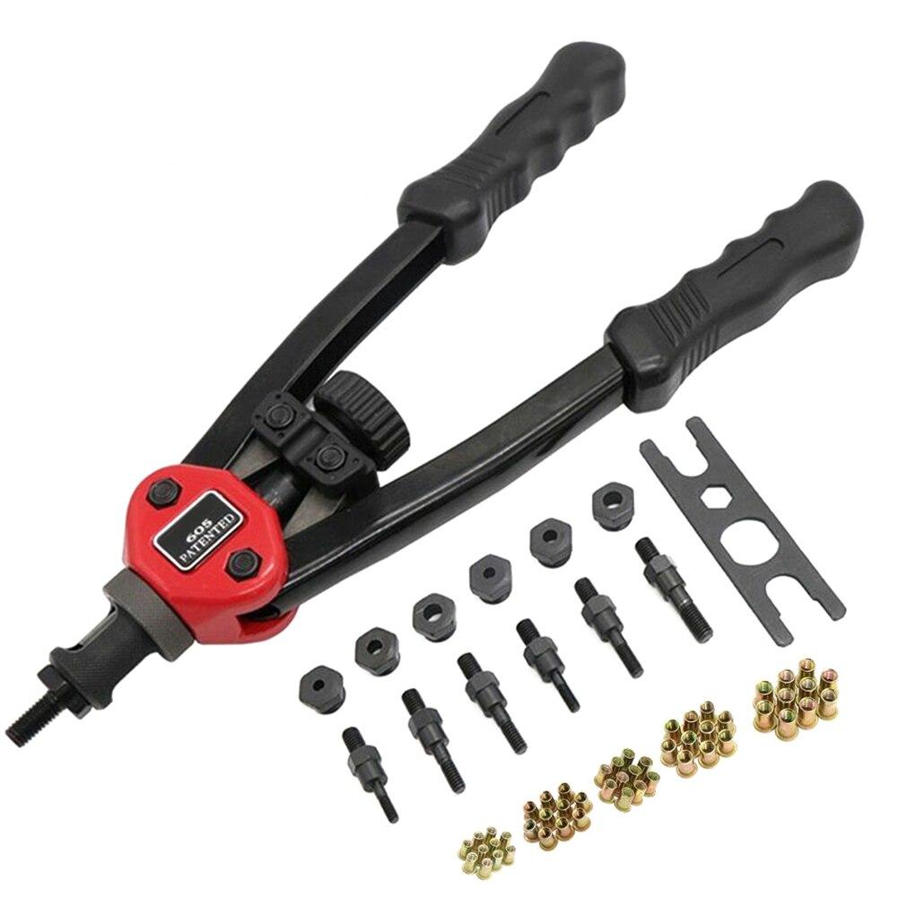 Простой автоматический набор инструментов с заклепками для тяжелых условий эксплуатации, гибкие ручки, заклепки, гайка, сеттер для M3 M4 M5 M6 M8