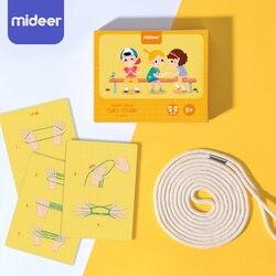Cuerda de cuna para gato de 200CM juguete de mano con tapa para dedo, materiales Montessori para niños, juguetes educativos de aprendizaje para anillos luminosos para fiestas infantiles
