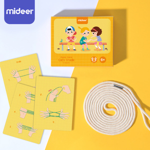 200CM Cat Cradle Rope Flip Hand Finger Game Toy Montessori Materials Kids Learning Educational Toys For Children Party Gadgets(China)
