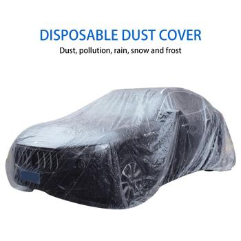 Transparent Car Vehicle Dustproof Waterproof Disposable PE Film Snow Dust Cover image