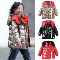 MUQGEW Winter Hooded Jacket Kids Girl Boy Coat Warm Down Jacket Overcoat Letter Waterproof Coat Outwear GH6