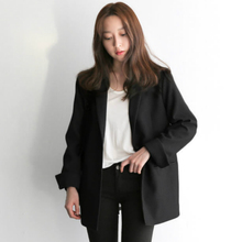 Women Black Suit Blazer Office Jacket Ladies Tailored Oversi