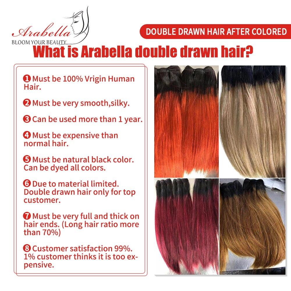 Super Double Drawn Straight Virgin Hair  Bundles 2/3/4 Pcs Ombre Hair  100%  Bundles 1b/99j Hair  5