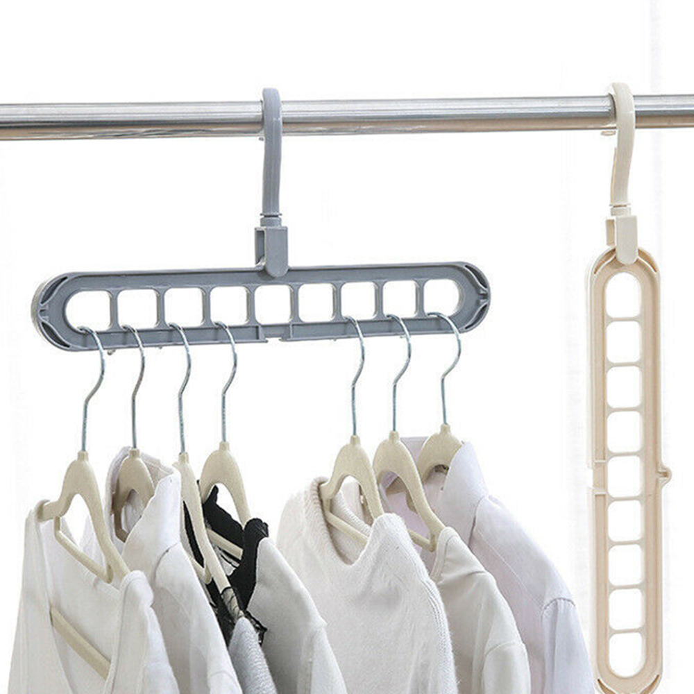 Multi-function Plastic Scarf Clothes Hangers Clothes Drying Rack Multi Port Support Circle Clothes Hanger Storage Racks