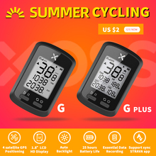 Xoss Computador G+ (G Plus) sem fio à prova dágua, para bicicletas, ciclocomputador com Bluetooth ANT+, GPS e velocímetro, ideal para Road Bike, MTB e sprint (ciclismo de pista)