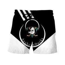 Anaheim Duck Ice Hockey Shorts NHL Mens and Womens Beach Pants Breathable Loose