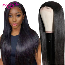 Straight 13x6 Lace Frontal Wig Brazilian Human Remy Hair Wig 4x4 Lace Closure Wig for Women Ali Queen Wig Natural Color Hairline