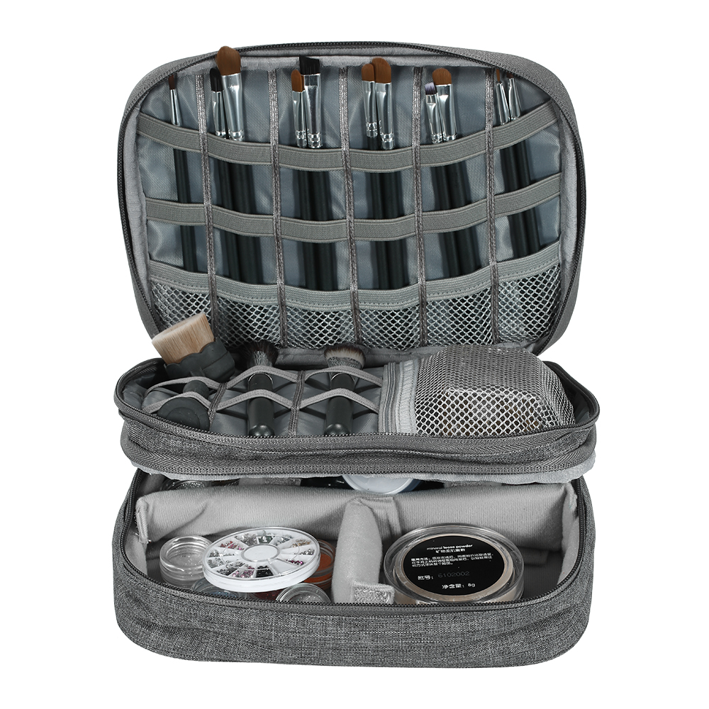Outdoor Tool Travel Makeup Bag Case Toiletry Cosmetics Bag Organizer Electronics Camera Two layer travel bag with mesh pockets|Outdoor Tools| |  - title=