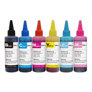 INKARENA 100 мл принтер набор для наполнения чернил + 82 82N T0821 чернильный картридж для принтера Epson Stylus Photo 1410 T50 R290 R295 R390 RX590 RX610