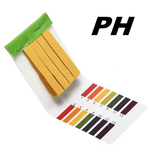 1set = 80 Strips! Professional 1-14 pH litmus paper ph test strips water cosmetics soil Acidity test Strips with control card