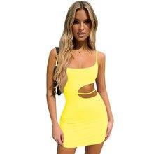 2021 Wholesale Fashion Hot Night Sexy Summer Dress Sleeveless Sling Clothes Female Women Clothing Dress