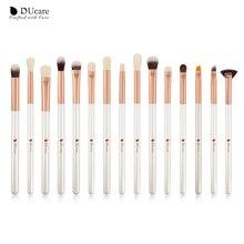 DUcare  15Pcs Makeup brushes Natural Goat hair Eye shadow Blending Eyeliner Eyebrow Smokey shade brush set Eyeshadow Brushes